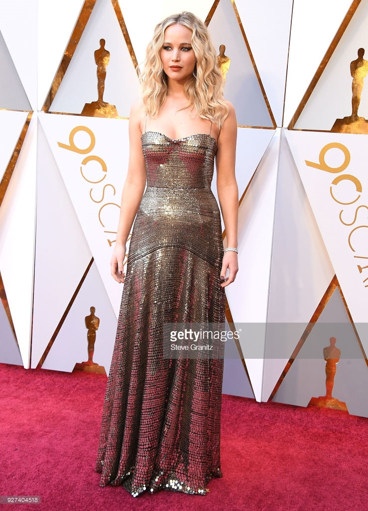 jennifer lawrence arrives at the 90th annual academy awards at on picture id927404518 Best Dressed: Oscars 2018